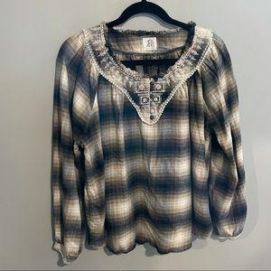 DRA Anthropologie plaid shirt medium